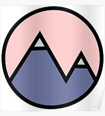 Mountains & Pink Poster