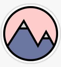 Mountains & Pink Sticker