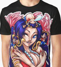 Boa Hancock & Luffy Chibis Graphic T-Shirt