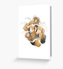 Gathering of Majestic Goats Greeting Card