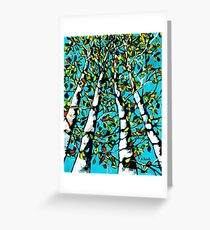 Birch Trees painting Greeting Card