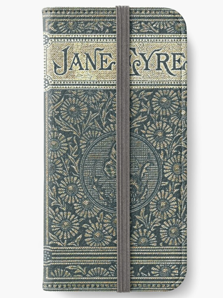 Old Book Cover Iphone : Quot jane eyre old book cover design iphone wallets by joolya
