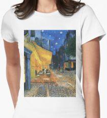 Vincent Van Gogh -Cafe Terrace at Night .Van Gogh -Cafe Terrace at Night Womens Fitted T-Shirt