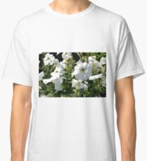 White flowers in the garden, natural background. Classic T-Shirt