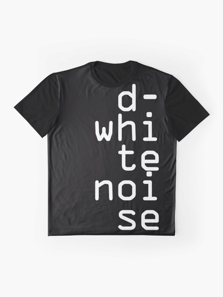 Alternate view of D-White Noise - white stack - merch Graphic T-Shirt