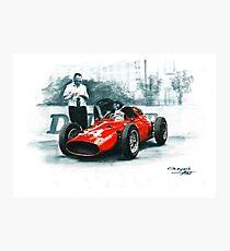 1960  Dino 246p. GP Monaco Photographic Print