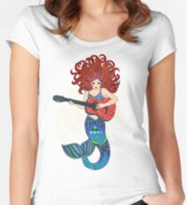 Musical Mermaid Women's Fitted Scoop T-Shirt