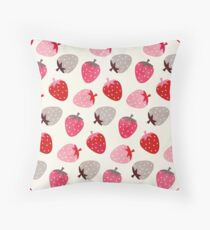 Strawberry Fields Throw Pillow