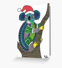 Festive Koala Greeting Card