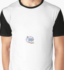 a skull wearing a tiny hat Graphic T-Shirt
