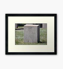 empty gravestone unknown soldier Framed Print