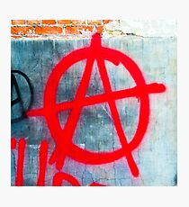 Anarchy Graffiti Photographic Print
