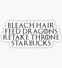 21st Century Khaleesi Business (Black TXT) Sticker