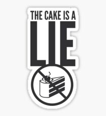 Portal - Cake is a Lie Sticker