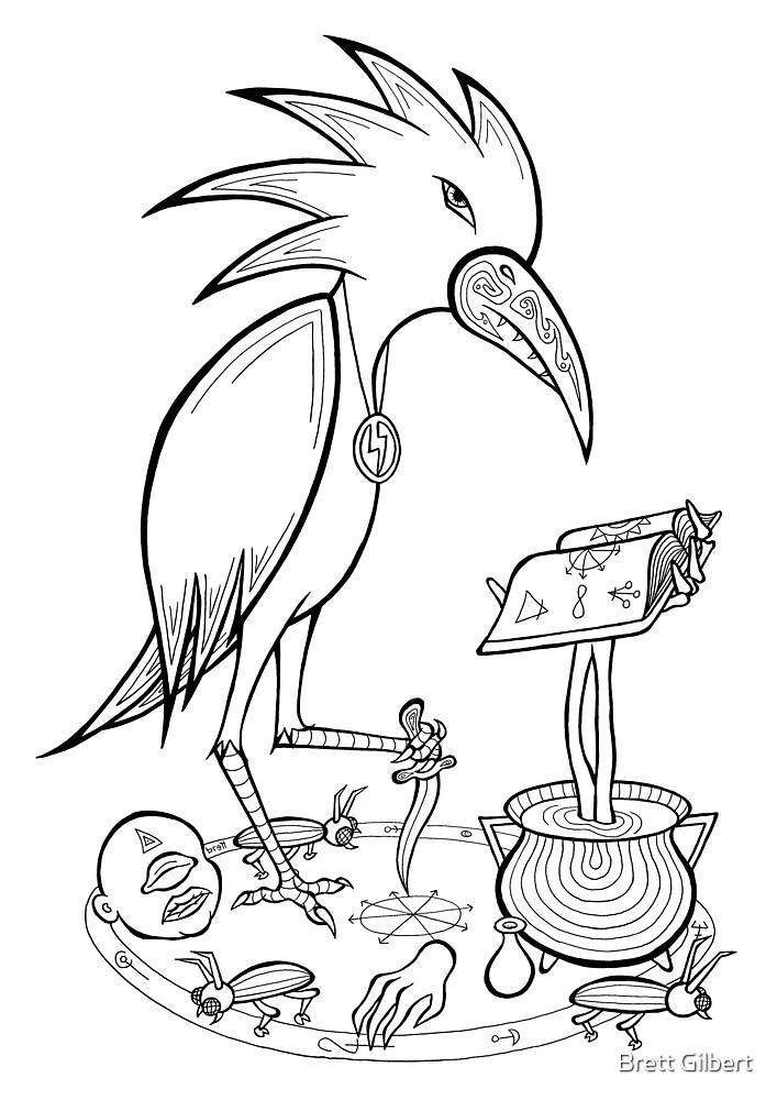 Bird with Knife by Brett Gilbert