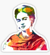 Frida Kahlo watercolour portrait Sticker
