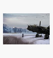 Time to go: Lancasters on dispersal Photographic Print