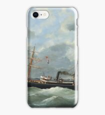 Edouard Adam - Steamship Bothal In A Heavy Swell  iPhone Case/Skin