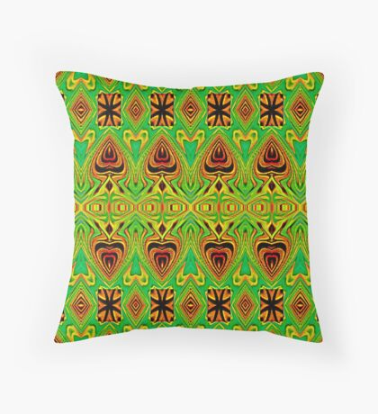 LEATHER-TRIBAL SPEARS Throw Pillow