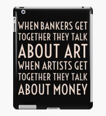 Art, Money, Bankers iPad Case/Skin