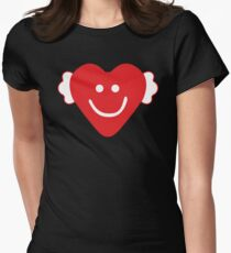 Cute Candy Heart - emerald Womens Fitted T-Shirt