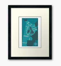Shipping Forecast Map 1 Framed Print