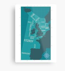 Shipping Forecast Map 1 Metal Print