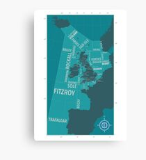 Shipping Forecast Map 1 Canvas Print
