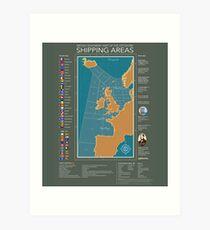 Shipping Forecast of British Art Print