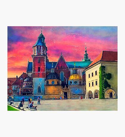 Cracow Wawel art Photographic Print