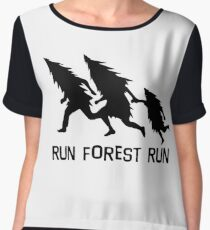Run Forest Run Women's Chiffon Top