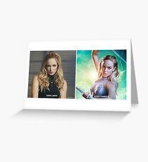 Sara Lance/White Canary Greeting Card