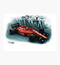 1989  Ferrari F1-89 Photographic Print