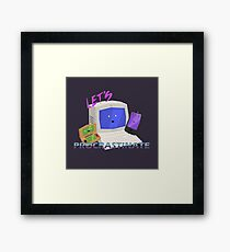 Let's Procrastinate! Framed Print