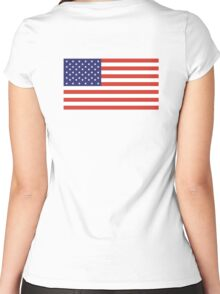 American Flag, Stars & Stripes, Pure & simple, United States of America, USA Women's Fitted Scoop T-Shirt