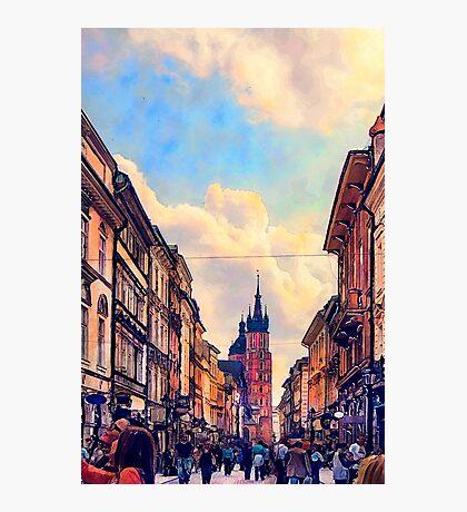 Cracow Florianska street Photographic Print