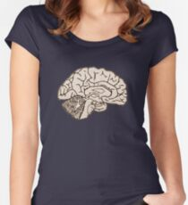 hemisected brain Women's Fitted Scoop T-Shirt