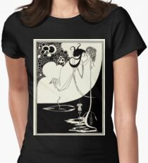 Aubrey Beardsley - Fantasy Illustration - Salome Womens Fitted T-Shirt