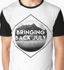 Bringing Back July Logo--Black Graphic T-Shirt