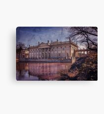 Palace on The Water  Warsaw Canvas Print