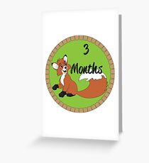 3 Months Greeting Card
