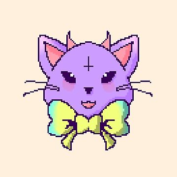 Pixel Pastel Goth Kitty  by Clovie31
