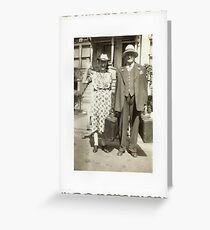 """""""My Great Grandparents, The Halls""""... prints and products Greeting Card"""
