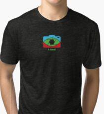 I shoot - pop art colors Tri-blend T-Shirt