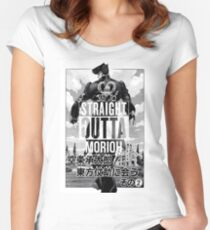 Josuke-straight outta morioh Women's Fitted Scoop T-Shirt