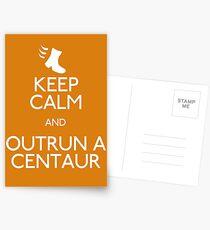 Keep Calm and Outrun a Centaur Postcards