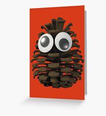 Googly-Eyed Pinecone Greeting Card