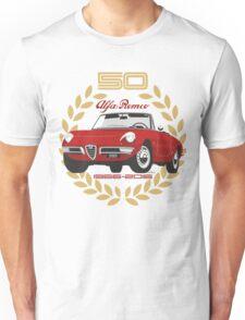 Alfa Romeo Spider 50 years Unisex T-Shirt