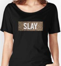 Slay Leopard Women's Relaxed Fit T-Shirt