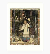 Vasilisa the Beautiful - Ivan Bilibin Art Print